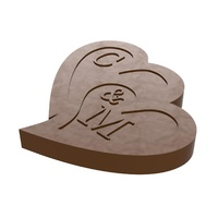 Personalised Wedding Chocolate Mould - Double Heart