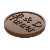 Personalised Wedding Chocolate Mould - Round