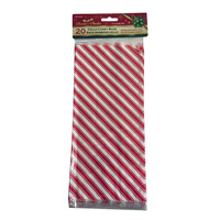 Peppermint Strip Cellophane Bag 13 x 30cm 20pcs