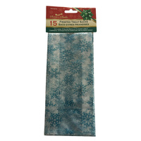 Snowflake Cellophane Bag 10cm x 21cm 15pcs