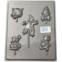 Assorted Clowns Mould - Thick 1.5mm