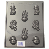 Small Christmas Figures Mould - Thick 1.5mm
