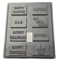 Assorted Messages Mould - Thick 1.5mm
