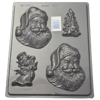 Happy Santa Mould - Thick 1.5mm