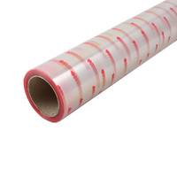Cellophane Roll Hearts Print  - 60cm x 50 Meter