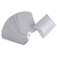 Silver Pillow Boxes 10pcs