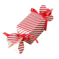 Red And White Stripe Candy Box 1pcs