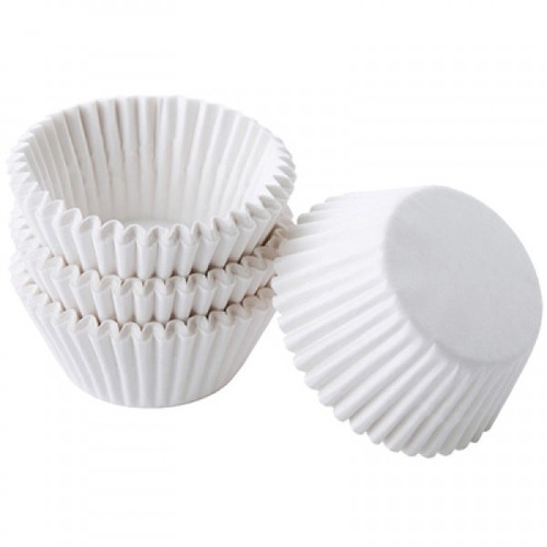 Mini Candy Paper Cups White - 100 Pack
