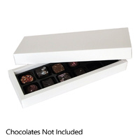 White Chocolate Box - Holds 12 Chocolates