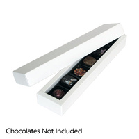 White Chocolate Box - Holds 6 Chocolates