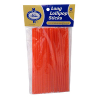 Lollipop Sticks Red Long 150mm - 25 Pack