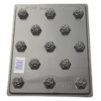 Deep Roses Hexagons Mould